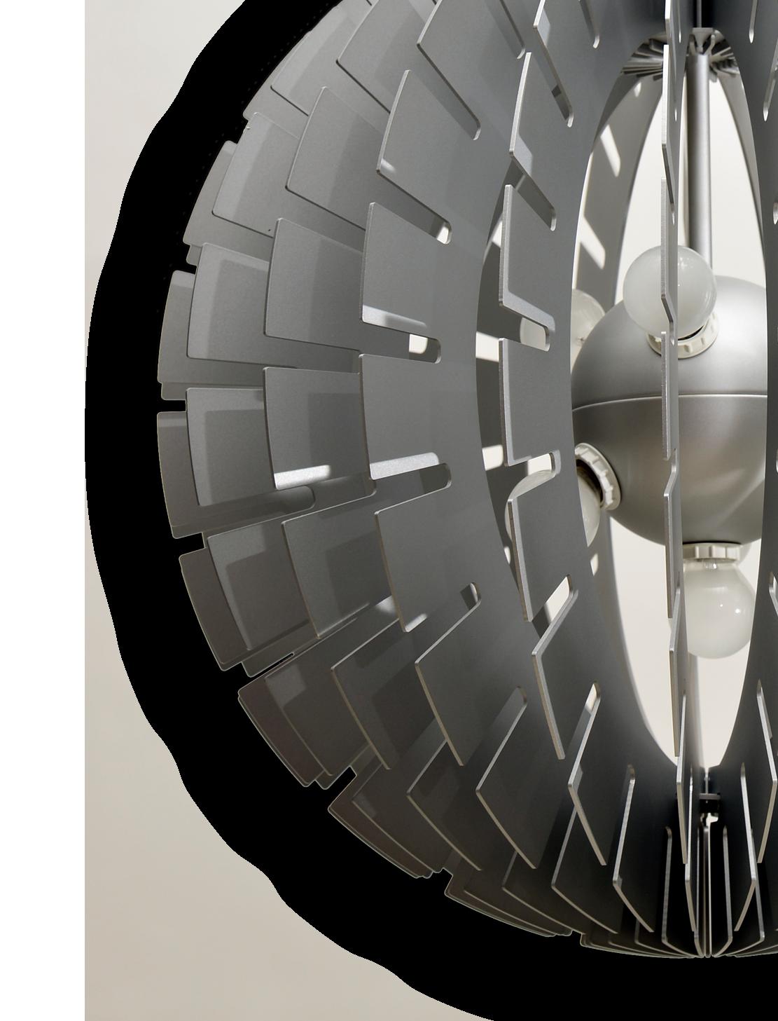 Helios Aluminium, lámpara colgante de BLux, de cerca