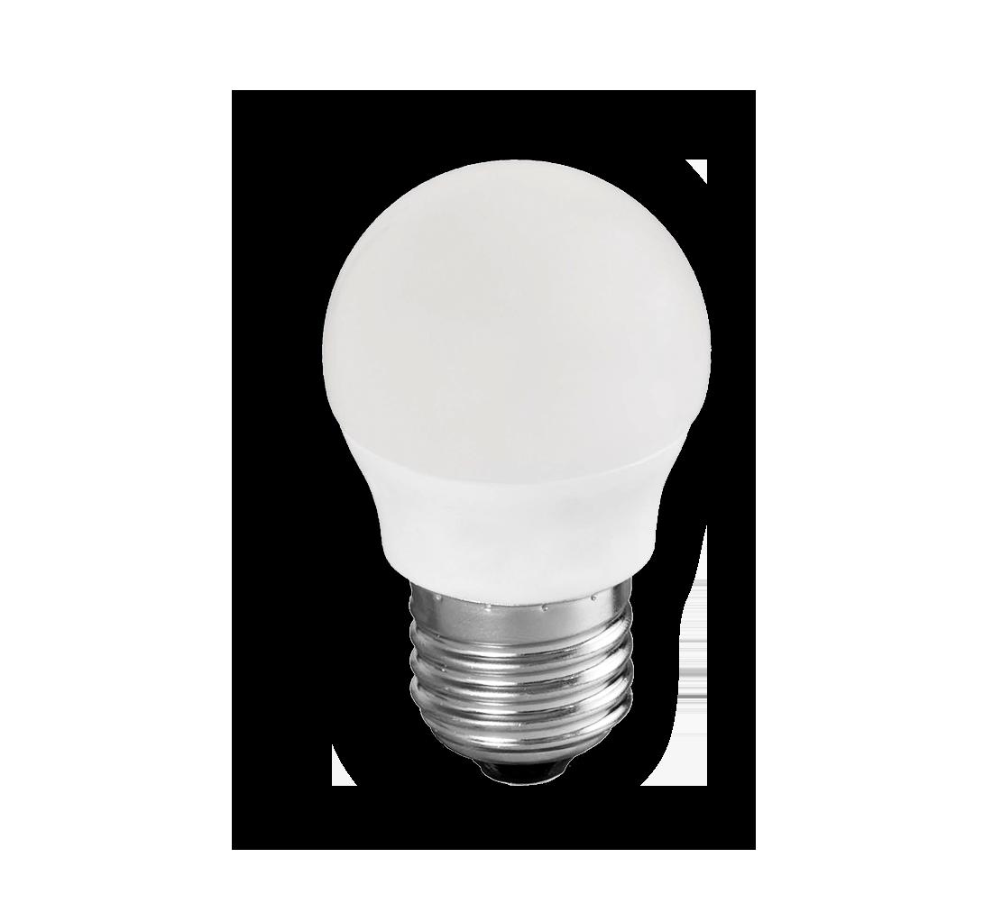 Primer plano de la bombilla esférica LED E27
