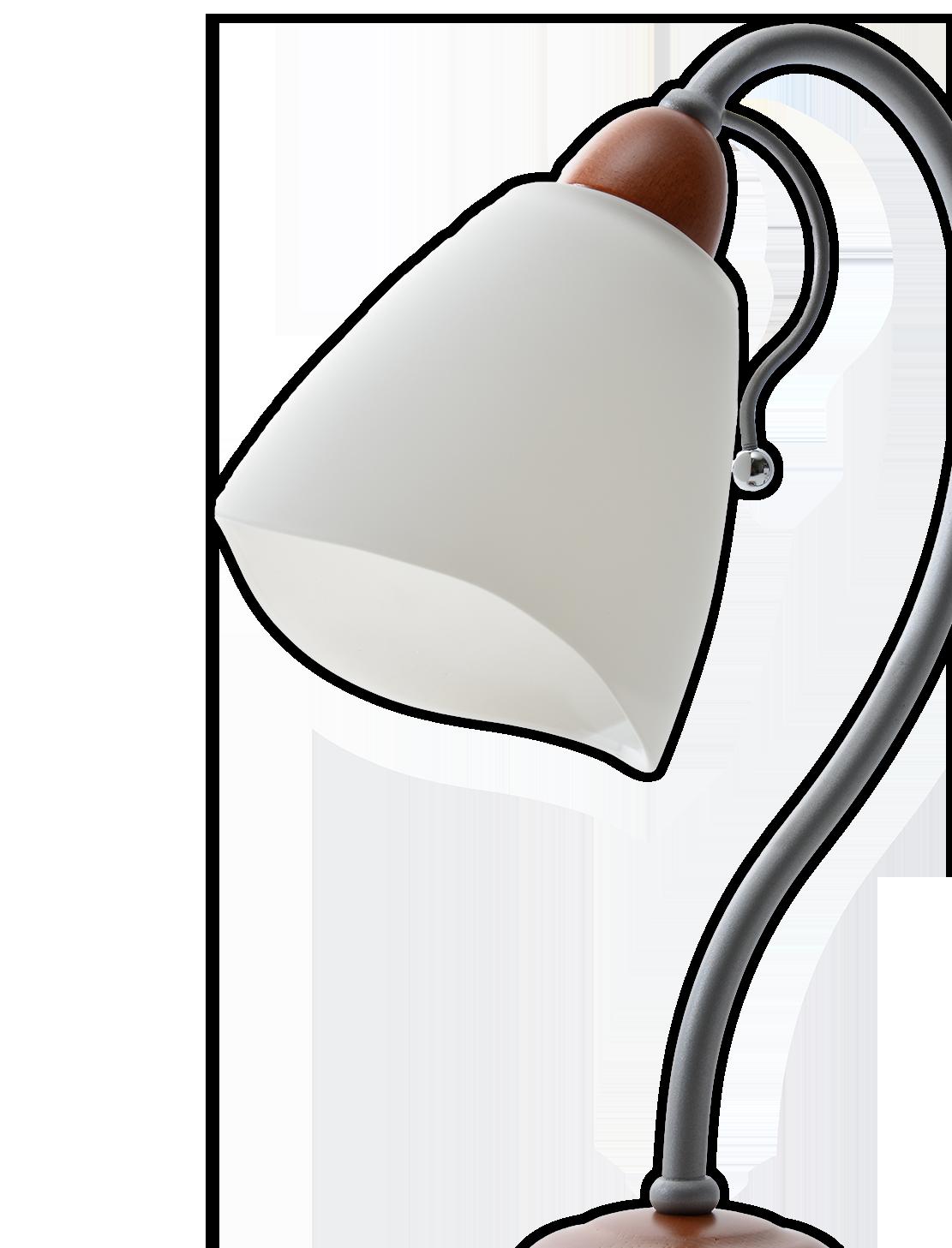 Primer plano de la lámpara de sobremesa Cerezo, de Lámparas Roma