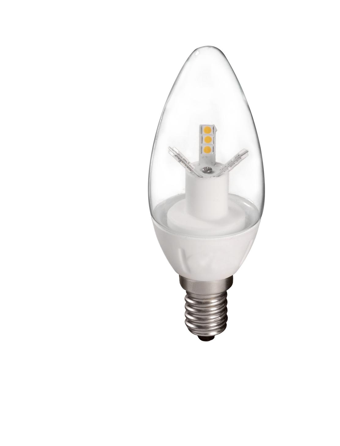 Bombilla Vela LED Transparente 4W E14 en detalle