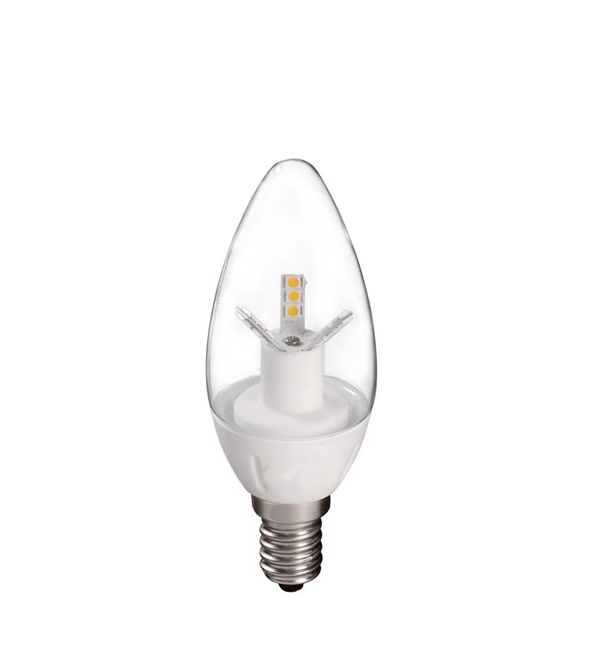 Bombilla Vela LED Transparente 4W E14