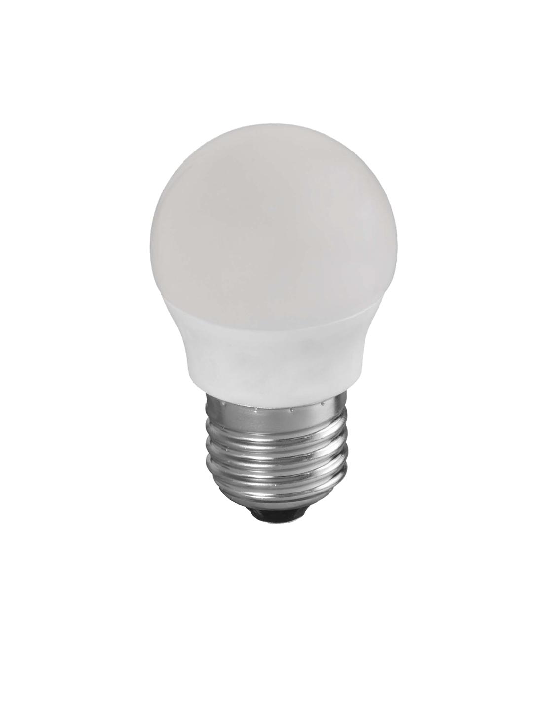 Bombilla esférica LED E27 Versión dimmable en detalle